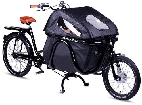 fahrrad mit transportbox vorne