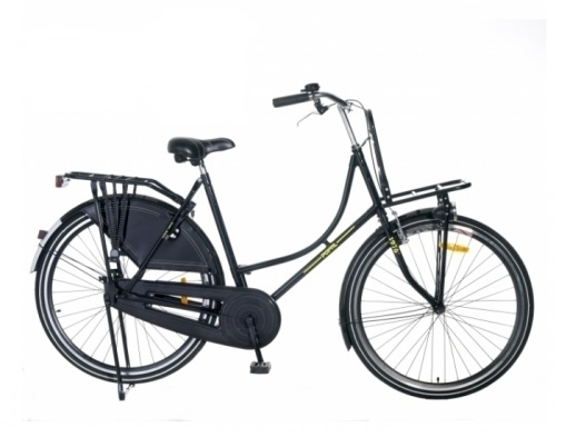 28 zoll hollandrad schwarz gl nzend gep cktr ger vorne fahrrad ass. Black Bedroom Furniture Sets. Home Design Ideas