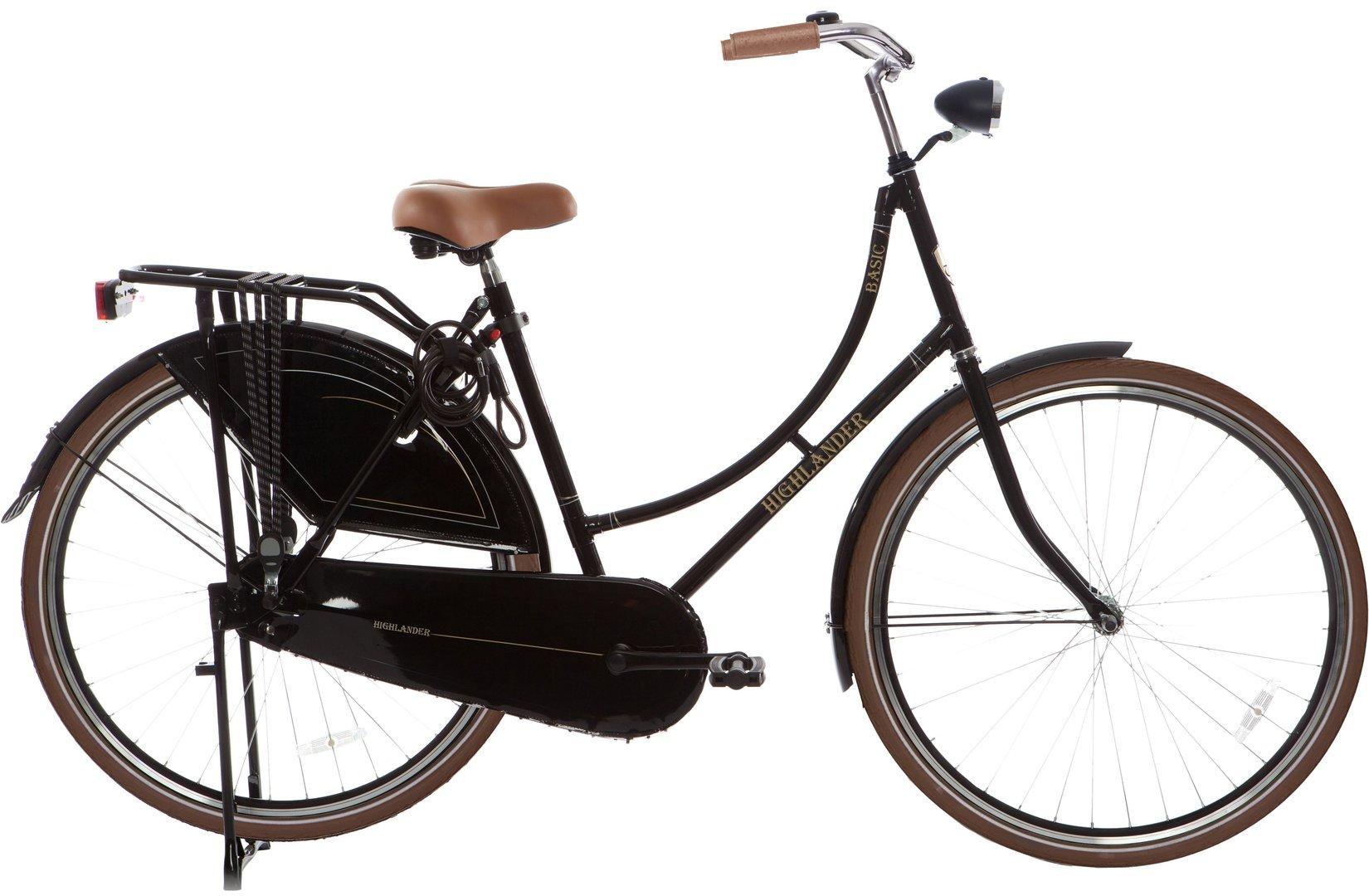 28 zoll hollandrad highlander matt schwarz fahrrad ass. Black Bedroom Furniture Sets. Home Design Ideas