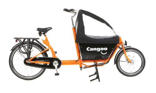 Bakfiets 240 kurz, Cangoo Downtown 3 Gang 2 Kindersitzplätze, orange