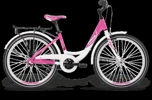 24 zoll kinderfahrrad kross julia 3 gang m dchen pink wei fahrrad ass. Black Bedroom Furniture Sets. Home Design Ideas