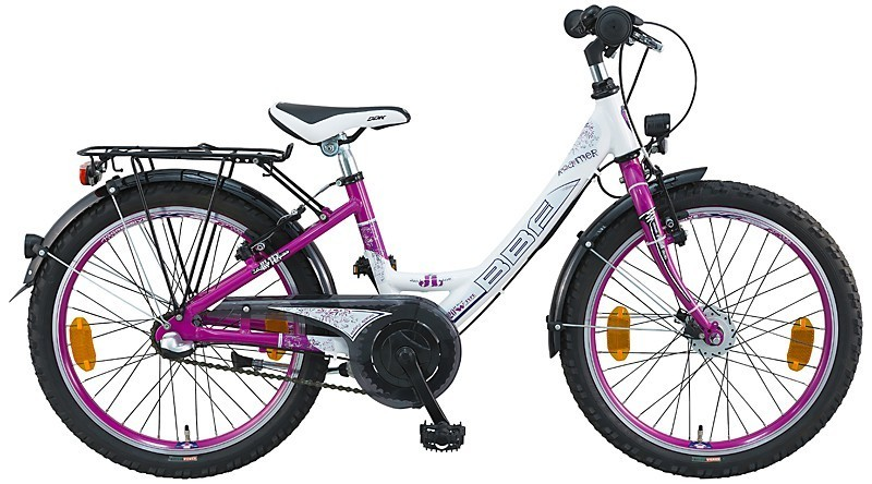 20 zoll kinderfahrrad bbf roamer 3 gang m dchen wei pink fahrrad ass. Black Bedroom Furniture Sets. Home Design Ideas