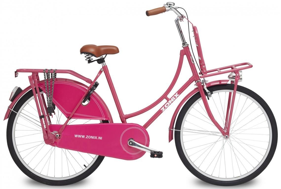 26 zoll hollandrad zonix rosa mit frontr ger fahrrad ass. Black Bedroom Furniture Sets. Home Design Ideas