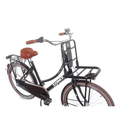 26 zoll aluminium 3 gang hollandrad schwarz zonix mit frontr ger fahrrad ass. Black Bedroom Furniture Sets. Home Design Ideas
