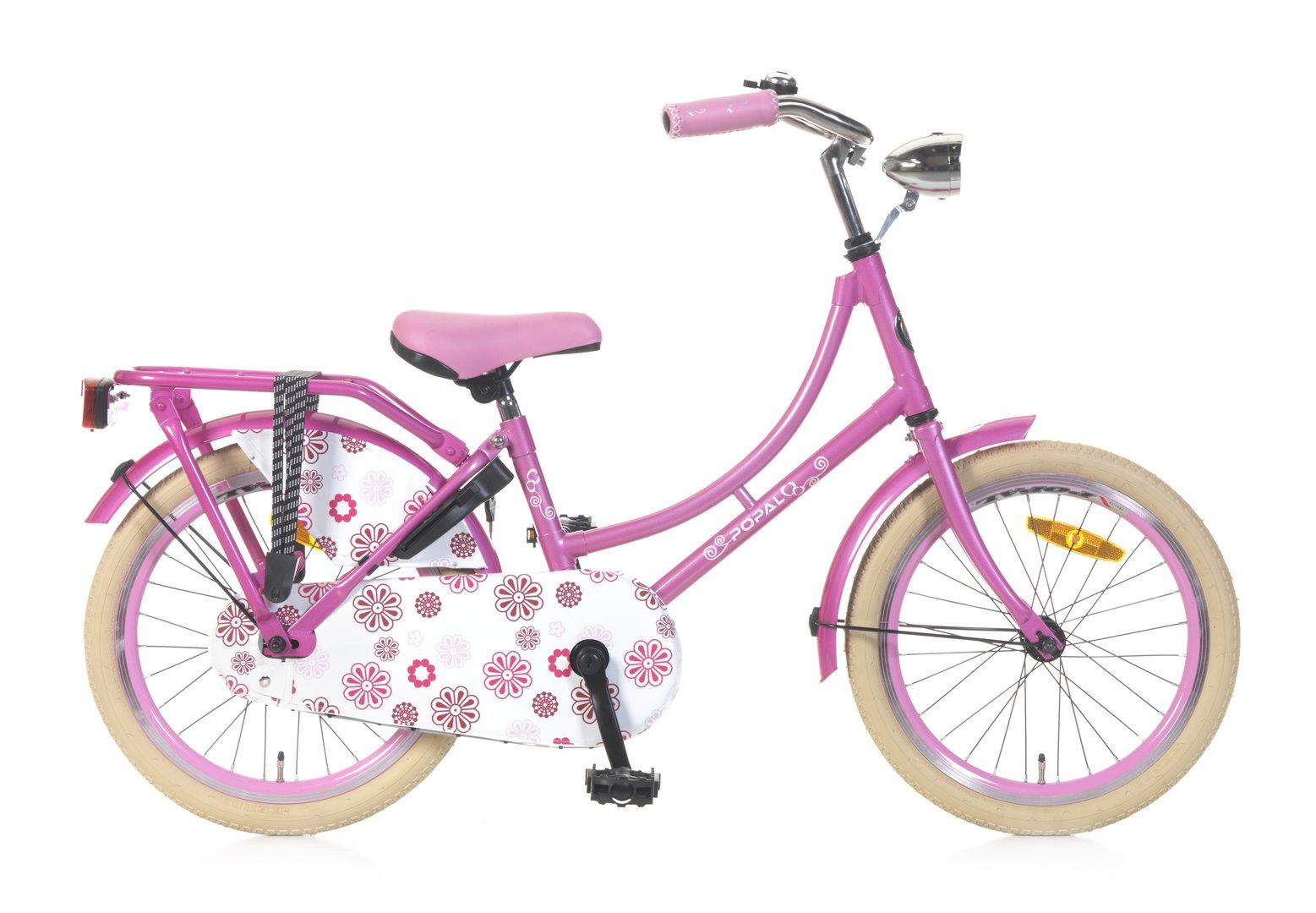 18 zoll hollandrad rosa mit blumen fahrrad ass. Black Bedroom Furniture Sets. Home Design Ideas