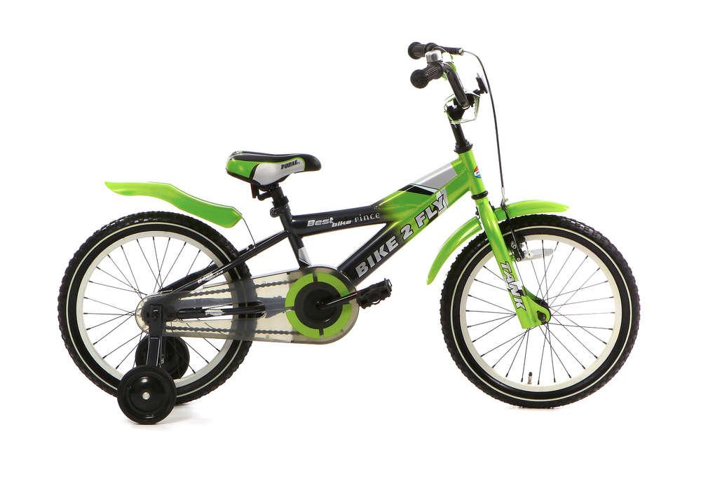 16 Zoll Kinderfahrrad Bike 2 Fly grün - fahrrad-Ass de