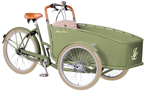 Johnny Loco Lima Alu. bakfiets grün (Light Olive) - fahrrad-Ass.de