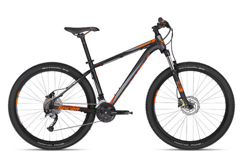 "27,5"" MTB Kellys Spider 50 Black Orange 2018 27 Gang Shimano Lock Out Gabel und hydr. Scheibenbremse"
