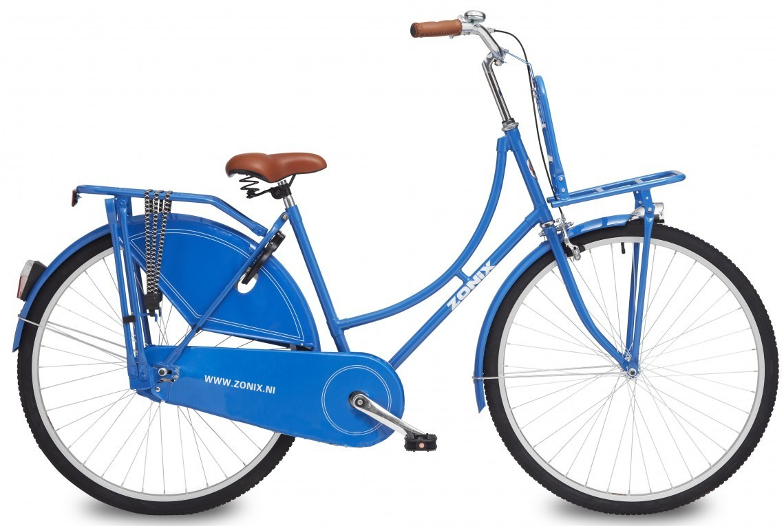 28 zoll hollandrad zonix blau mit frontr ger fahrrad ass. Black Bedroom Furniture Sets. Home Design Ideas