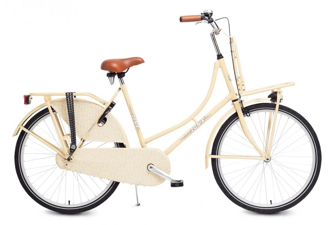26 zoll hollandrad zonix creme mit frontr ger fahrrad ass. Black Bedroom Furniture Sets. Home Design Ideas