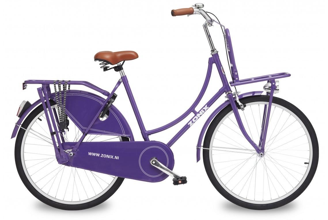 26 zoll hollandrad zonix lila mit frontr ger fahrrad ass. Black Bedroom Furniture Sets. Home Design Ideas