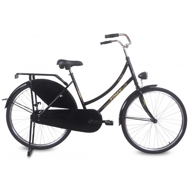 26 zoll hollandrad zonix solo matt schwarz fahrrad ass. Black Bedroom Furniture Sets. Home Design Ideas