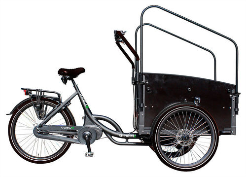 Komplettangebot Vogue Supreme anthrazit E-Power Mittelmotor Aluminium bakfiets 3-Rad