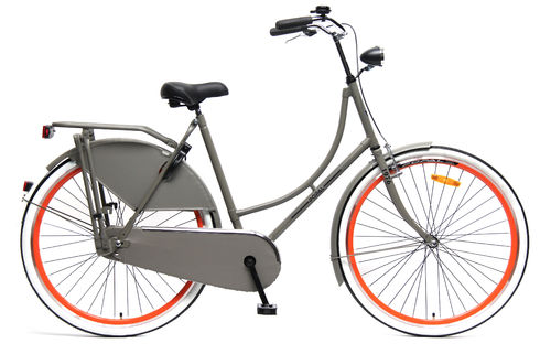 28 Zoll Hollandrad grau-orange - fahrrad-Ass.de