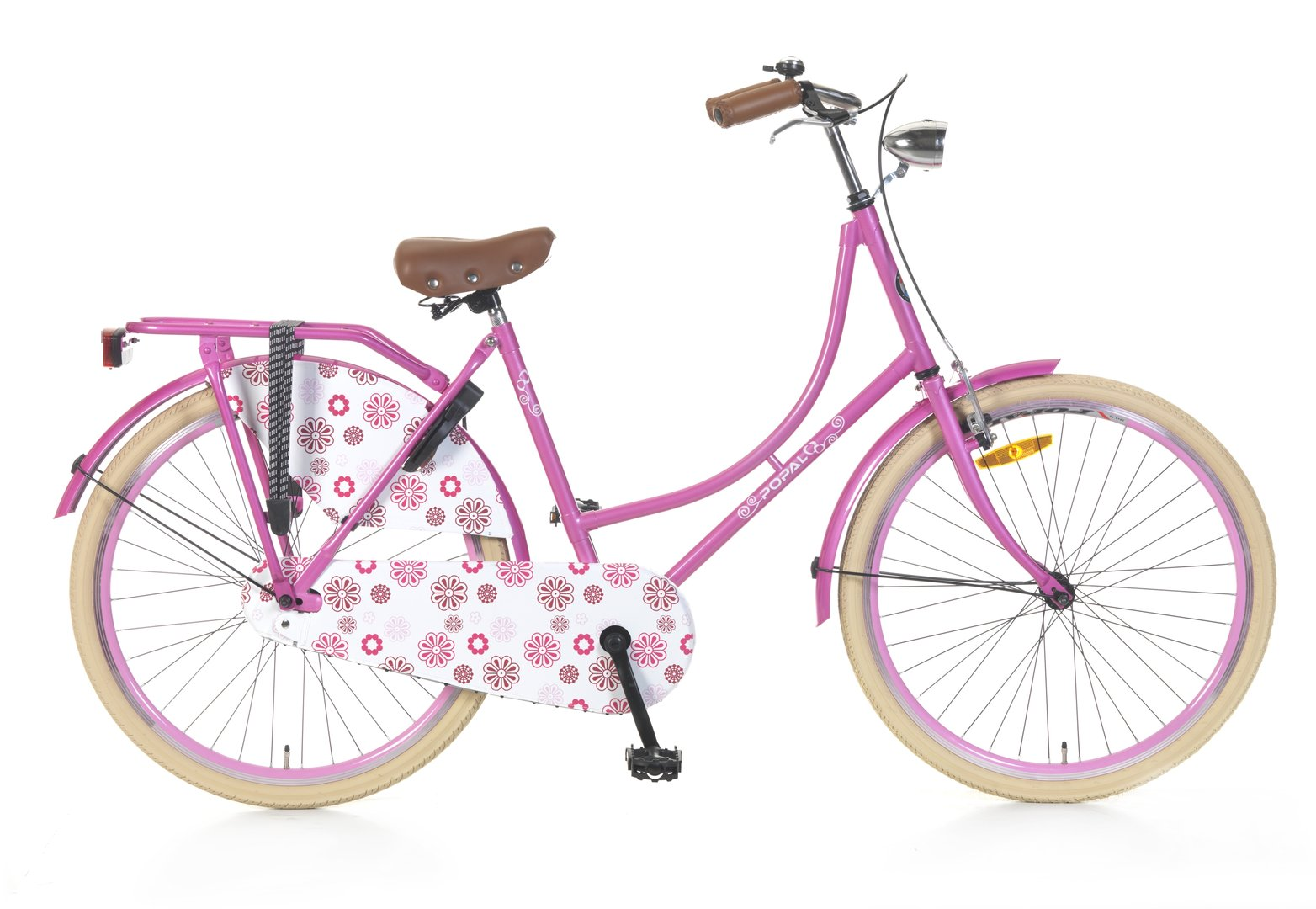 26 zoll hollandrad rosa mit blumen fahrrad ass. Black Bedroom Furniture Sets. Home Design Ideas
