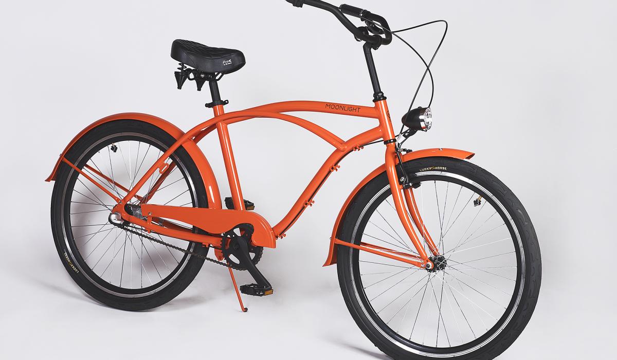 Moonlight Beach Cruiser Electric Orange mit Shimano Nexus Schaltung ...