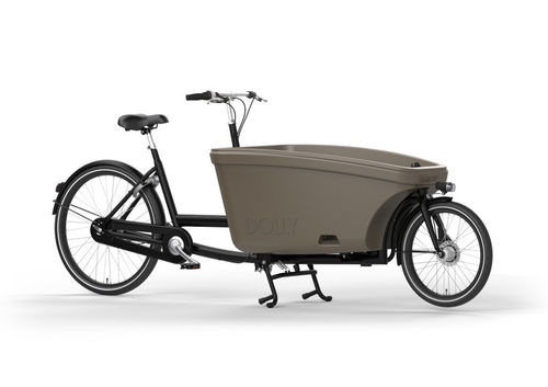 Komplett-Angebot Dolly Family 2-Rad bakfiets Schwarz Matt inkl. Regendach Made in Holland