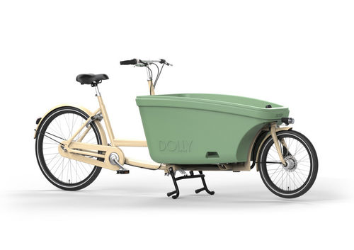 Komplett-Angebot E-Dolly Family 2-Rad bakfiets Ivory inkl. Regendach Made in Holland