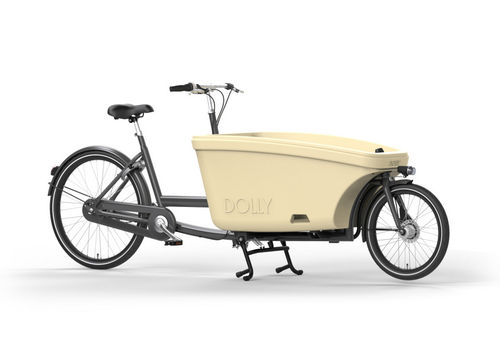 Komplett-Angebot E-Dolly Family 2-Rad bakfiets Shadow Grey inkl. Regendach Made in Holland