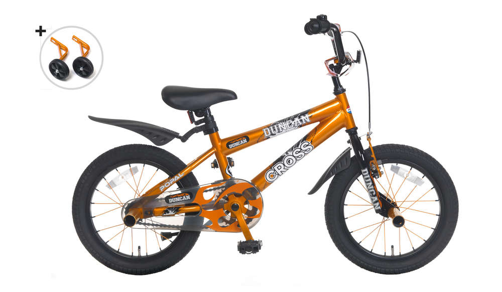 16 Zoll Kinderfahrrad BMX Duncan orange - fahrrad-Ass de