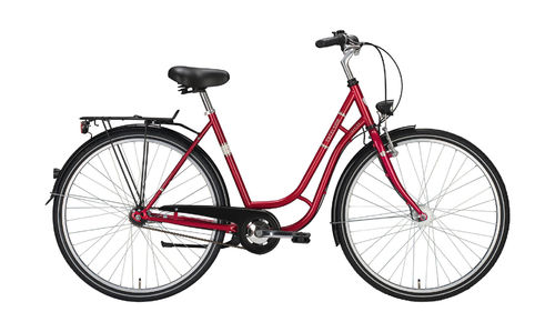 "26"" Damen City - 3 Gang Tourenrad Excelsior Touring rot metallic - Nabendynamo"