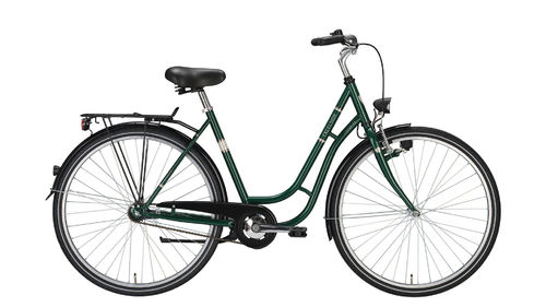 "28"" Damen City - 3 Gang Tourenrad Excelsior Touring grün metallic"