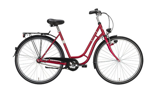 "28"" Damen City - 3 Gang Tourenrad Excelsior Touring rot metallic"