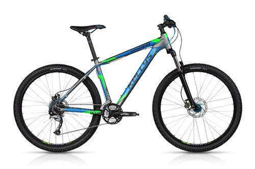 "27,5"" MTB Kellys Spider 30 Grey Blue 2018 24 Gang Shimano, Lock Out Gabel und hydr. Scheibenbremse"