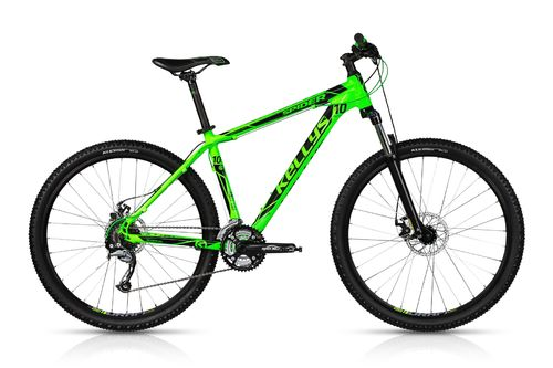 "27,5"" MTB Kellys Spider 10 Toxic Green  24 Gang Shimano, Lock Out Gabel"
