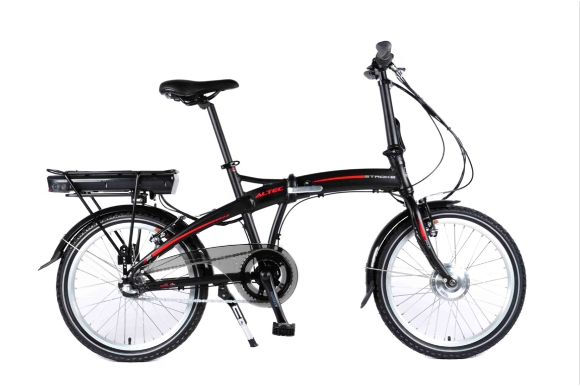 20 aluminium elektro faltrad klapprad altec stroke schwarz 3 gang shimano nexus pedelec e bike. Black Bedroom Furniture Sets. Home Design Ideas