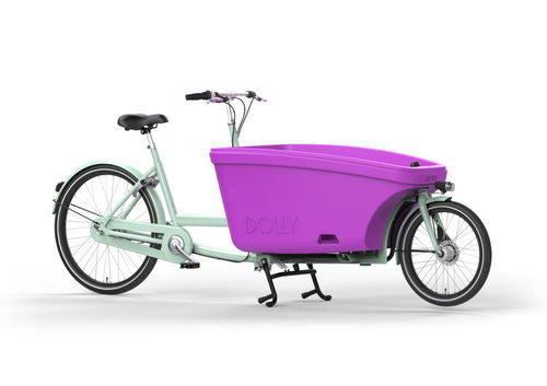 Sonder-Angebot Dolly Family 2-Rad bakfiets Laguna Green - Fuchsia Made in Holland