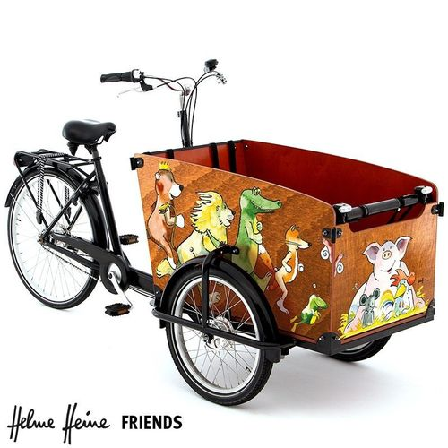 Komplett-Angebot Babboe Helme Heine Friends (Big) E-Power 3-Rad bakfiets 7Gang inkl. Regendach