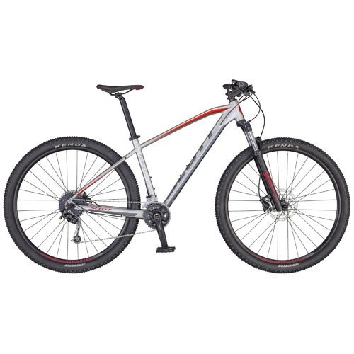 "Scott 29"" Aspect 930 2020 silver - red 18 Gang Shimano Deore, Remote Lock-Out Gabel, hydr. disc"