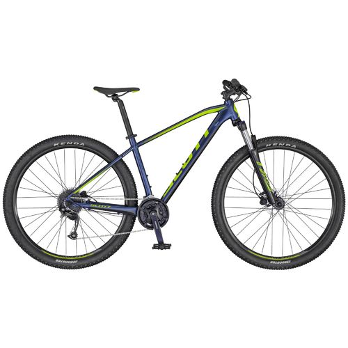 "Scott 27,5"" Aspect 750 2020 dark blue - green 27 Gang Shimano, Lock-Out Gabel, hydr. Scheibenbremse"