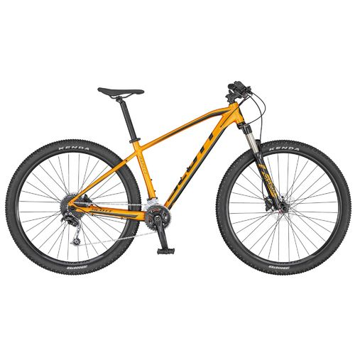 "Scott 27,5"" Aspect 740 2020 orange dark grey 18 Gang Shimano Deore LockOut Gabel hydr Scheibenbremse"