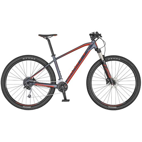 "Scott 27,5"" Aspect 740 2020 dark grey - red 18 Gang Shimano Deore Lock-Out Gabel hydr Scheibenbremse"